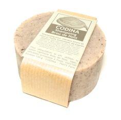 Shampoing solide Brou de Noix   Shampoing solide CODINA J'aime la formulation qui combine soude, potasse et tensioactif . Formule inédite, chez eux. a great shampoo , love it ! great formula with alcali ( potash and soda) and surfactant ( bétaine)