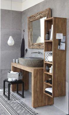 Teak & Living is the producer of teak bathroom furniture. - Teak & Living is the producer of teak bathroom furniture. Real craftsmanship is reflected in the qu - Bathroom Flooring, Bathroom Furniture, Bathroom Interior, Bathroom Storage, Bathroom Organization, Design Bathroom, Bath Design, Wood Furniture, Antique Furniture