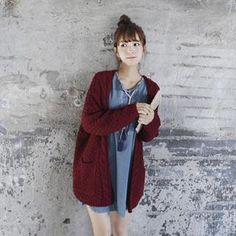 Open-Front Cable-Knit Cardigan from #YesStyle <3 GOROKE YesStyle.com
