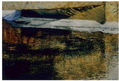 """bridge in winter eramosa river 8 22"""" x 30"""" micheal zarowsky watercolour on arches paper - private collection"""