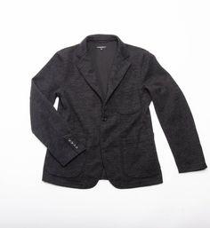 Engineered Garments Knit Blazer, Charcoal Wool Jersey