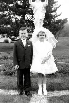 First Communion - 1958.  Pentecost Sunday May, 1958 I made my First Communion at St. Rita's Catholic Church, West Allis, WI.  This of course isn't me.  But that was the look.