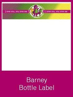 Barney Bottle Label - FREE PDF Download