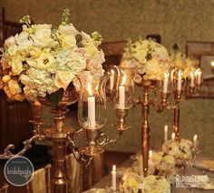 Elegant and romantic floral center pieces    http://calgarybride.ca/luxe-blog/a-charming-anniversary-shoot/
