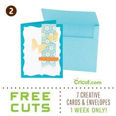Cut 7 FREE Cards-- From Cricut!    *Promotion runs week of Feb 14-21, 2013