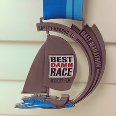 I can check this one off my list!!!  Best Damn Race half marathon, race bling, race medal :)