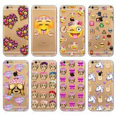 2016 재미 전화 case 대한 apple iphone 7 6 6 초 5 5 초 se 7 플러스 6 splus 4 4 초 커버 투명 실리콘 원숭이 이모티콘 휴대 전화 가방