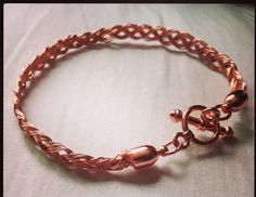 Braided Red Copper Bracelet - Fits regular sized wrists - Copper naturally helps relieve arthritis on Etsy, $32.00