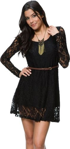 Hunter belted lace dress http://www.swell.com/Womens-Dresses/HUNTER-BELTED-LACE-DRESS?cs=BL