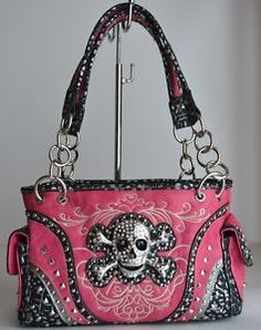 Hot Pink Skull Concho Western Bling Studded Rhinestone Stitched Handbag Purse | eBay Pink Skull, Cloths, Westerns, Hot Pink, Bling, Shoulder Bag, Stitch, Purses, Bags