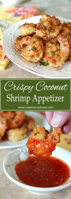 Crispy Coconut Shrimp with Curry and Garlic makes for a fantastic appetizer or in our case? Dinner! via @creativculinary