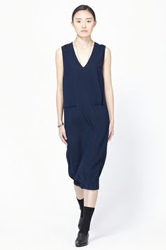 6397 Sleeveless Dress (Navy)
