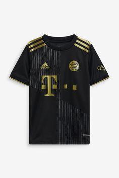 Football Kits, Football Jerseys, Munich, Fabric Display, Adidas, Black Kids, Printing On Fabric, Recycled Materials, Arms