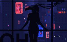 The best collection of cyberpunk animated pixel art, portraying a dark, rainy, lonely dystopian future. Vaporwave, Pixel Art Gif, Arte 8 Bits, Cyberpunk Kunst, Space Opera, Science Fiction, Cyberpunk Aesthetic, Pixel Animation, 8 Bit Art