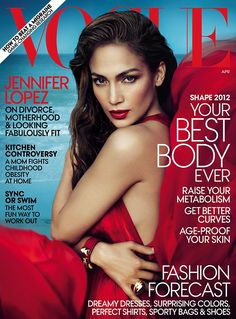 Jennifer Lopez shows off her red hot shape in tight bold ensemble on the cover of Vogue | Mail Online