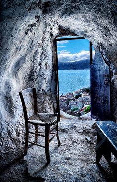 The Secret Greece is a cultural portal showcasing articles for Greece, suggesting destinations, gastronomy, history, experiences and many more. Greece in all Window View, Through The Window, Greek Islands, Abandoned Places, Belle Photo, Windows And Doors, Wonders Of The World, Ramen, Beautiful Places