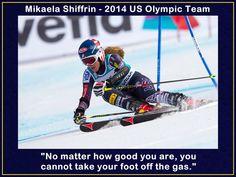 Skiing Poster Mikaela Shiffrin Photo Quote by ArleyArtEmporium, $15.99