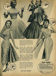 Vintage women's fashion advertisement, Skylark Fashions, 1957 1950s Fashion Women, 1950s Women, Retro Fashion, Vintage Fashion, Classic Fashion, Womens Fashion Casual Summer, Womens Fashion For Work, Classic Style Women, Blonde Beauty