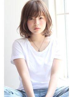 【GARDEN】ノームコア×うぶバング×ミディアム(田塚裕志) - 24時間いつでもWEB予約OK!ヘアスタイル10万点以上掲載!お気に入りの髪型、人気のヘアスタイルを探すならKirei Style[キレイスタイル]で。 Kawaii Hairstyles, Chic Hairstyles, Permed Hairstyles, Pretty Hairstyles, Medium Short Hair, Long Hair Cuts, Japanese Perm, Girls Short Haircuts, Hair Arrange
