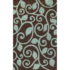 I pinned this Fogli Rug in Brown from the Manam event at Joss and Main!$569.95  8'X10'