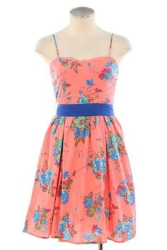 FLORAL CAMISOLE DRESS. I couldn't really do a vintage inspired weekend sales event without some kind of floral day dress. I'm not sure if the color is so vintage, but it's a great eye-catcher. 50% off. $37.50