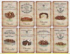 Vintage Shabby Kakao Schokolade french Paris