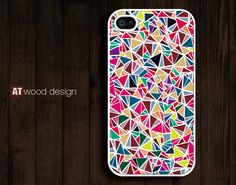 iphone 4 cases iphone 4s case iphone 4 cover classic colorized pink blue pattern design. $4.99, via Etsy.
