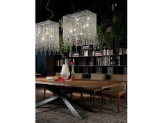 Cattelan Italia Kristall Pendelleuchte Venezia kaufen im borono Online Shop Dining Room, Chandelier, Room Decor, Ceiling Lights, Product Design, Pendant, Italia, Crystals, Home Decor Accessories
