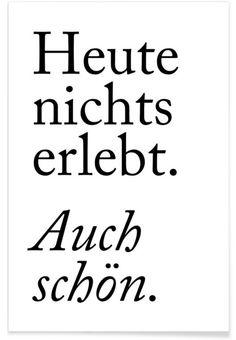 Auch Schön als Premium Poster von typealive | JUNIQE