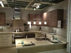 I love the Cabinetry! This is a showroom at Ikea Cabinetry, Home Remodeling, Showroom Inspiration, Kitchen, Kitchen Re, Home Decor, Ikea, Ikea Showroom, Kitchen Cabinets