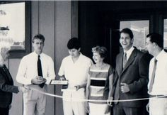 Don, Virginia, Bill, and Don Sr. Drilling at the ribbon cutting after we moved to our current location.