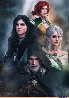 AnubisDHL, Ciri, Witcher Characters, The Witcher, Witcher, Witcher,, fandoms, Jennifer, Triss Merigold, Triss Merigold, Geralt of Rivia