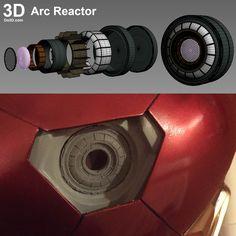 3D Printable Iron Man Uni-beam Arc Reactor Model | File Formats: STL OBJ – Do3D.com