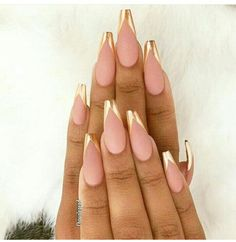 Pink Gold Nails, Pink And Gold, Golden Nails, Essie, Opi, Swag Nails, Nail Polish, Nail Art, Instagram Posts