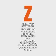 """con la Z...""""zejel para castelao"""""""