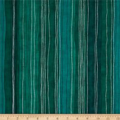 Shiny Objects Metallic Sterling Stripe Turquoise from @fabricdotcom  Designed by Flaurie and Finch for RJR Fabrics, this cotton print collection features metallic accents throughout and a variety of prints - from butterflies, to splatters, flowers, and more! Perfect for quilting, apparel, and home decor accents. Colors include shades of teal green with metallic silver accents. Shades Of Teal, Fabulous Fabrics, Teal Green, Layout Design, Accent Decor, Spoonflower, Butterflies, Quilting, Objects