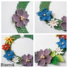 schemas for Spring Necklace (do Translate) #Seed #Bead #Tutorials