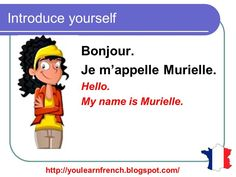 French Lesson 15 - Introduce yourself Basic conversation - Se présenter ...