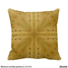 Abstract wooden pattern pillow