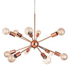 12 Light Ceiling Pendant Light In Copper from Lights 4 Living