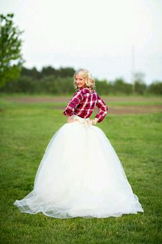 Flannel shirt with a wedding dress. I want to wear Daddy's! I'll have him walk me down the aisle one way or the other!