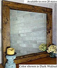 Add a little character to your bathroom with this Farmhouse Bathroom Mirror Tutorial. This simple tutorial provides the look you want at an affordable price