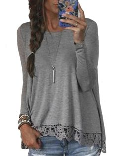 camiseta manga larga crochet relax fit 10.90