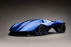 Maserati Tipo 975 Ernesto: Hybride Sci-Fi-Designstudie - Cars - Design de Carros e Motocicletas Luxury Sports Cars, Best Luxury Cars, Hot Cars, Sexy Cars, Chevrolet Camaro, Corvette, Concept Bmw, Ford Mustang Boss, Lamborghini Cars