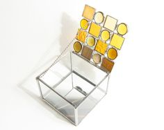 Amber Stained Glass Box by glassDaisys on Etsy Great take on the stained glass box. Loves it I do!