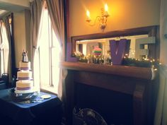 Play up any beautiful decor or windows from your venue with your own personal touches