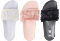 a4b4aa3c07bc83 Puma x Rihanna Fenty Faux Fur Slides Slippers Leadcat Sandals Trainers BNWB