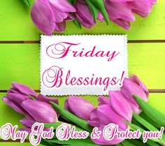 Friday Blessings! May God bless & protect you.