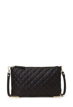 Quilted Faux Leather Crossbody   FOREVER21 PLUS - 1000137531