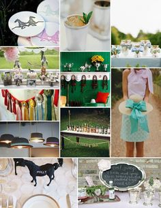 Off to the Races~ Kentucky Derby Party! This would be a fun party to plan.
